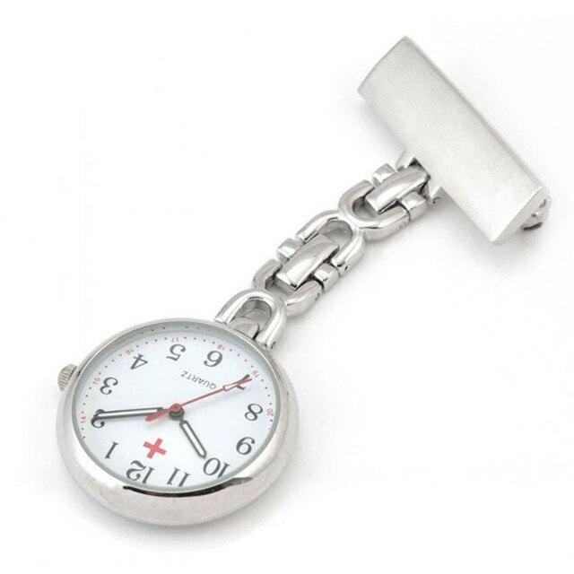 Doctor Moonlight Pendant Pocket Quartz Red Cross Brooch Nurses Watch Fob Hanging