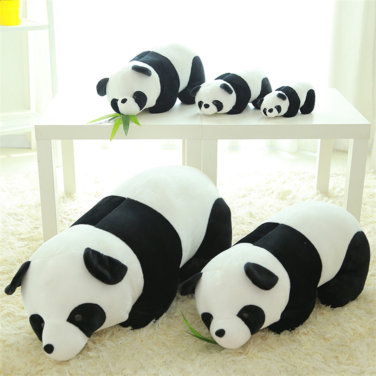 50cm panda soft toys Simulation Panda Super Cute Panda Plush Toy Large Doll Soft Panda Pillow Baby Toys Gift Children's Pillow cartoon glasses panda in yellow cloth large 70cm plush toy panda doll soft pillow christmas birthday gift x031