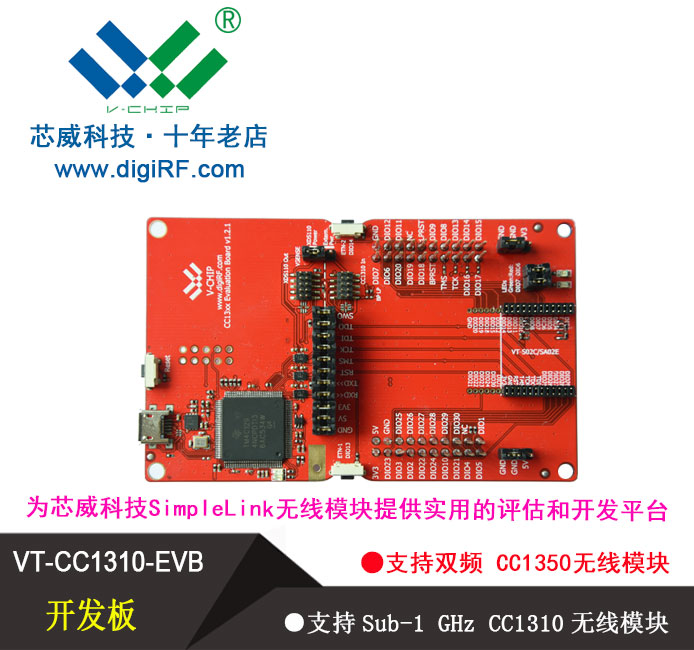 Dual Frequency CC1350 Multi Standard Protocol CC2650 SUB 1GHz CC1310 Wireless Module Development Kit 433mhz 915mhz wireless module cc1310 serial transceiver fec error correction 433m patch type support two development