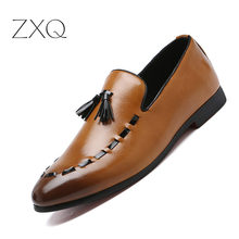 Italian Luxury Brand Mens Dress Shoes Tassels Loafers Oxford For Men Formal Flats