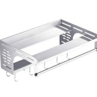 Double deck microwave oven rack 304 stainless steel mounting rack mounting kitchen oven rack thickening rack LU51510