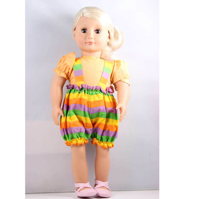 silver hair 18inch American girl doll +sun flower shoulder tape clothes +ballet shoes birthday Christmas gift AGD07
