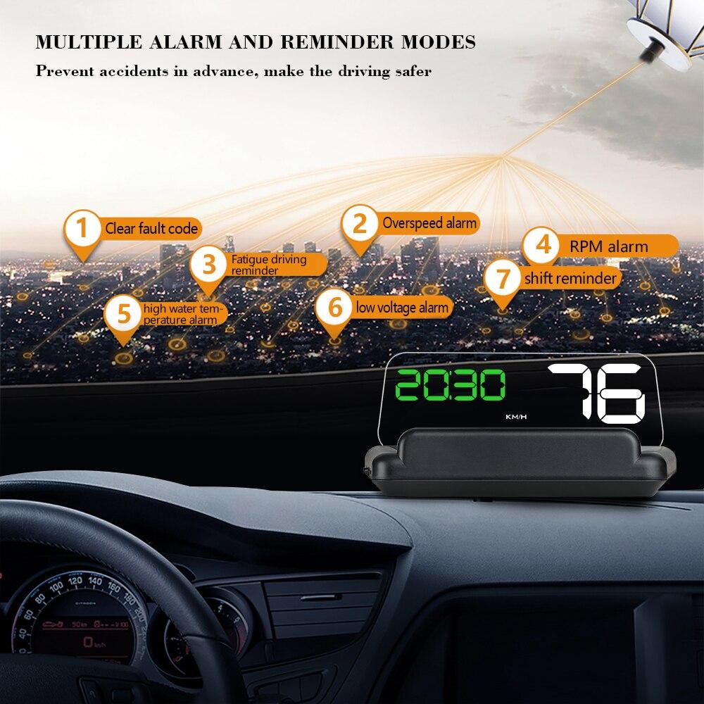 C500 OBD Car Speed Projector Hud Head Up Display Headup Digital Speedometer OBD2 Diagnostic Tool Car