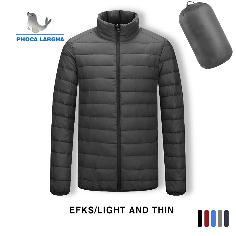 2019 Winter Models White Duck Down Light Down Jacket Men's Hooded Large Size Jacket Men's Casual Waterproof Spring