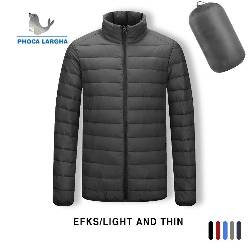 2019 Winter Models White Duck Down Light Down Jacket Men's Hooded Large Size Jacket Men's Casual Waterproof Spring