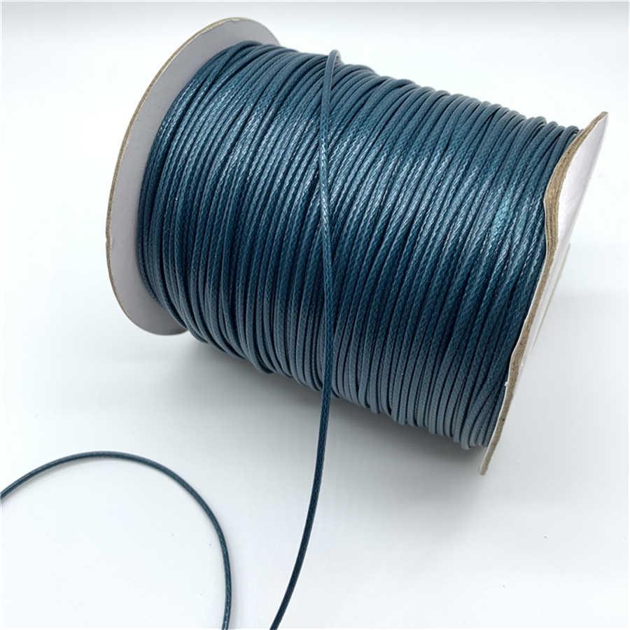 0.5 Mm 0.8 Mm 1 Mm 1.5 Mm 2 Mm Pauw Blauw Waxed Katoenen Koord Gewaxt Draad Koord String Riem ketting Touw Voor Sieraden Maken