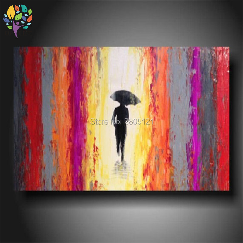 Hand Made Oil Painting On Canvas Single Man Modern Best