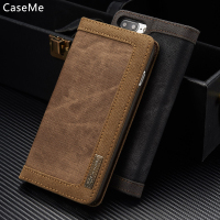 CaseMe For IPhone 7 Case Accessory Luxury Canvas Denim Armor Protective Flip Phone Case For IPhone