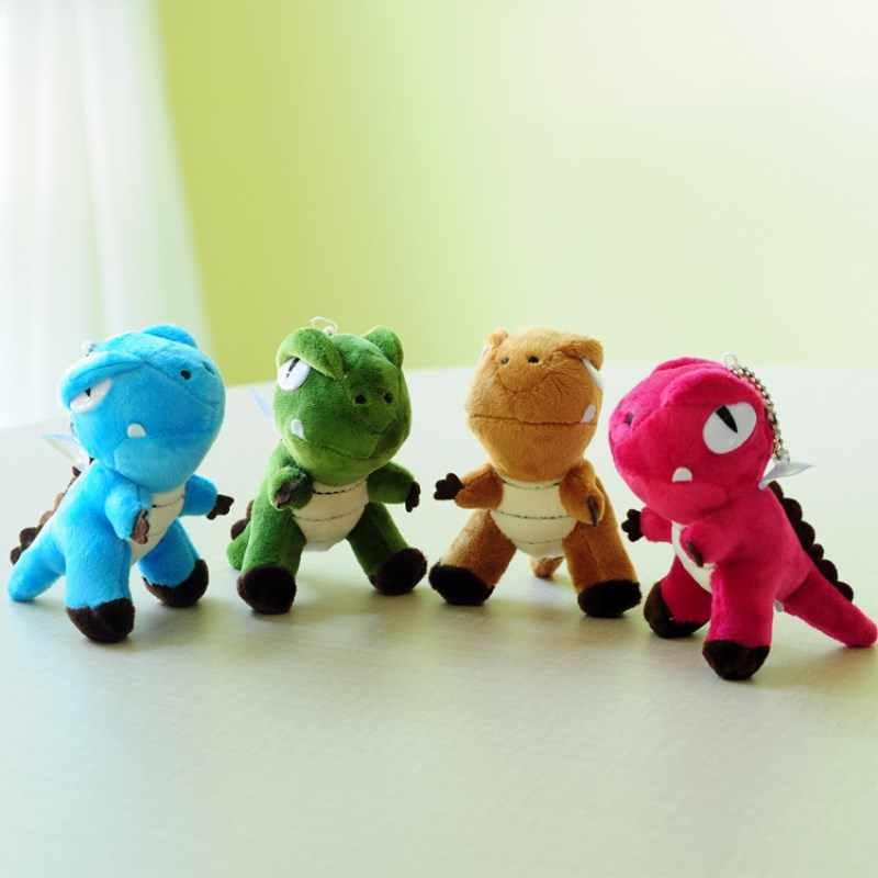 Kawaii Mundo Jurássico Dinossauro Tiranossauro Bonecas Animal Bonito Colorido Keychain Bag Pingente de Pelúcia Brinquedo Brinquedos Para Crianças