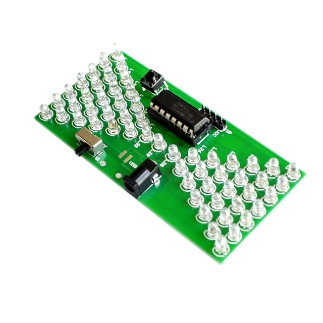 5V Electronic Hourglass DIY Kit Funny Electric Production Kits Precise With LED Lamps Double Layer PCB Board 84*40mm 2
