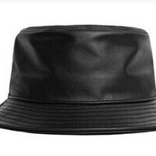 a6fd124d fashion genuine leather fishing cap brand casual bucket Hat out sun  protection bonnie hat male camping