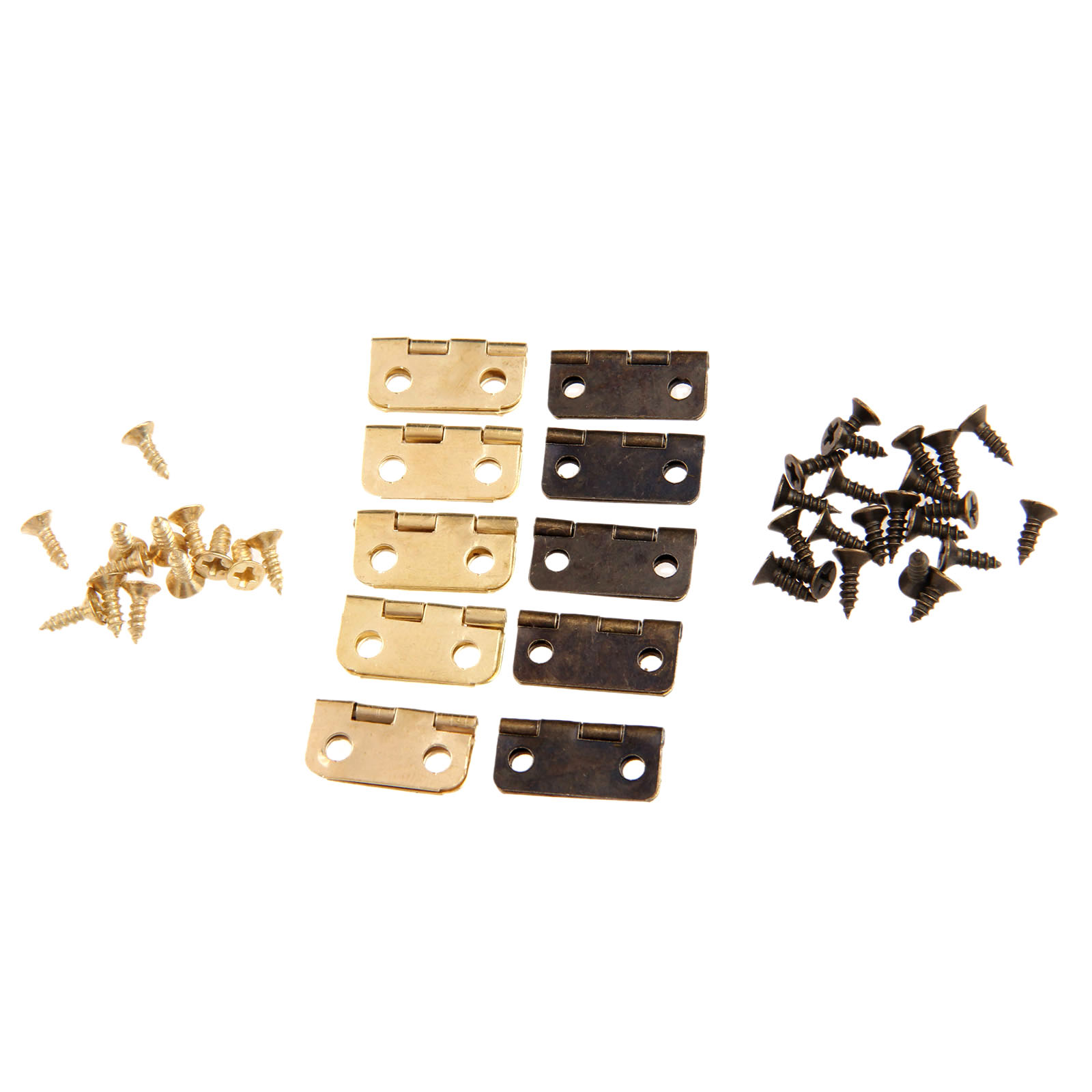 bản lề đồ nội thất bằng đồng - 10Pcs Antique Bronze/Gold Cabinet Hinges Furniture Accessories Jewelry Boxes Small Hinge Furniture Fittings For Cabinets 16x13mm
