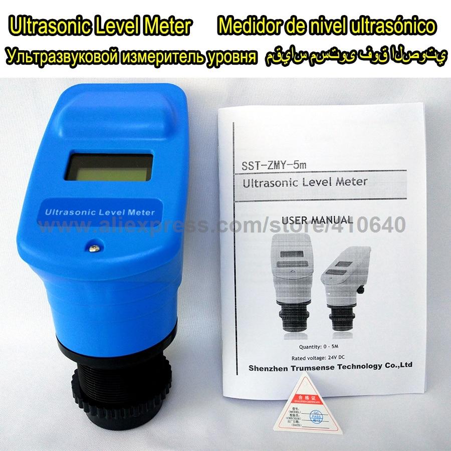 4-20mA Indicateur de Niveau À Ultrasons/Transducteur/Capteur Gamme 5 m 24VDC Alimentation à mesurer le niveau de liquide ou profondeur USINE BAS PRIX!