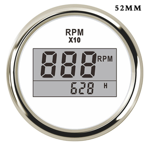 52mm Digital Tachometer Car Truck Marine Boat Tacho Gauge With Hourmeter 0~9990 RPM Display fit for Diesel ,Gasoline Engine(China)