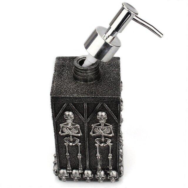 1pc Skull Shower Gel Dispenser Bottle Liquid Soap Dispenser Pump Hand Sanitizer Shampoo Lotion Bottle with Dispenser 450ml 4