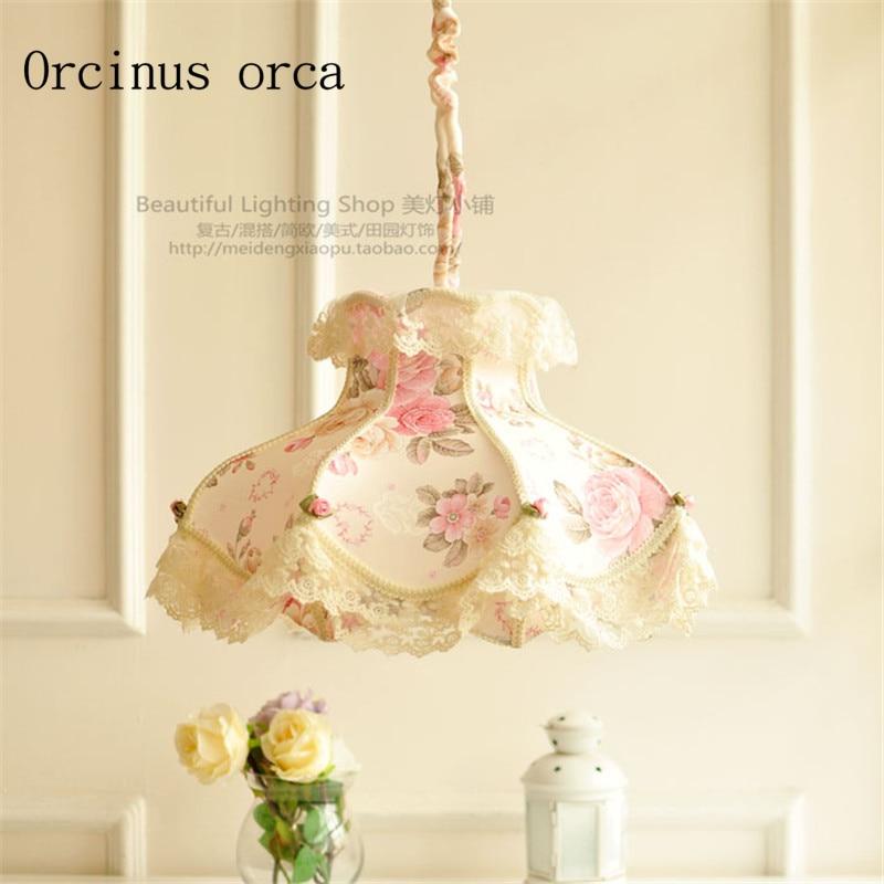 European Style Lace chandeliers cloakroom dining room bedroom princess wind girl bedroom PINK CHANDELIER free shipping|Pendant Lights|Lights & Lighting - title=