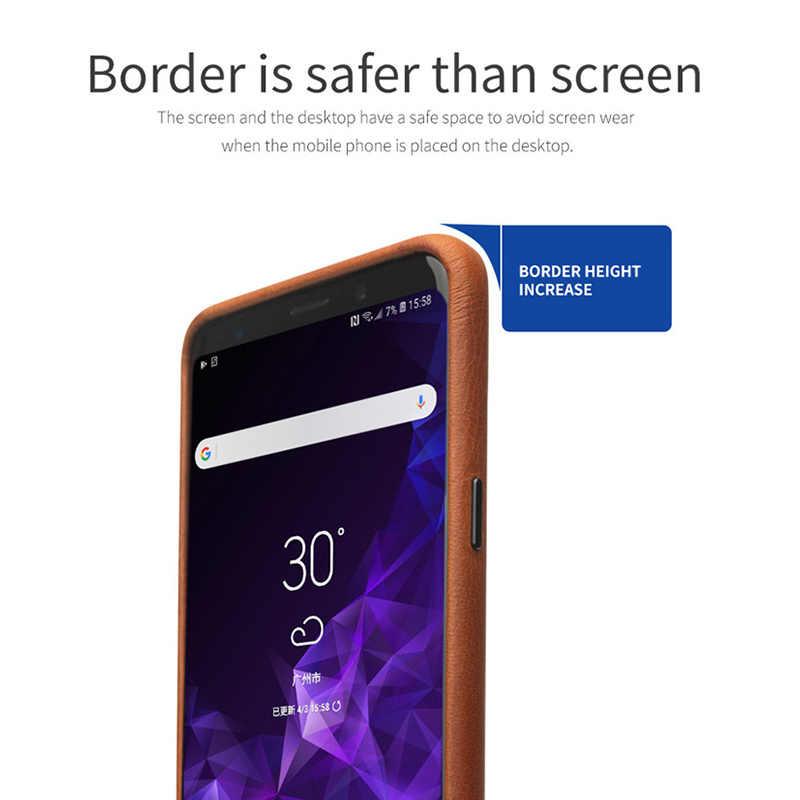 QIALINO Мода чехол для samsung Galaxy S9 класса люкс из натуральной кожи, сумка-чехол для телефона для samsung S9 плюс задняя крышка для 5,6/6,1 дюймов