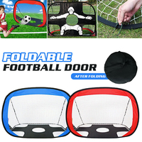 2018 Goal Football Net Portable Practical Goal Nets Bule Red Durable Soccer Match Training Target Indoor Outdoor Sports Gate