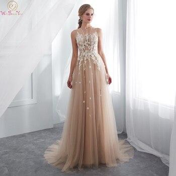 aef7420ab De noche champán vestidos 2019 Venta caliente