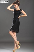 New Scoop Homecoming Dress Charming Black Lace Coktail Dress