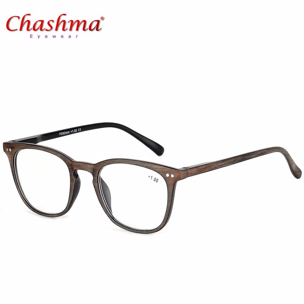 Brýle na čtení Stylový design Kvalita Móda Dřevěné pánské a dámské brýle na čtení + 100 / + 150 / + 200 / + 250 / + 300 / + 350