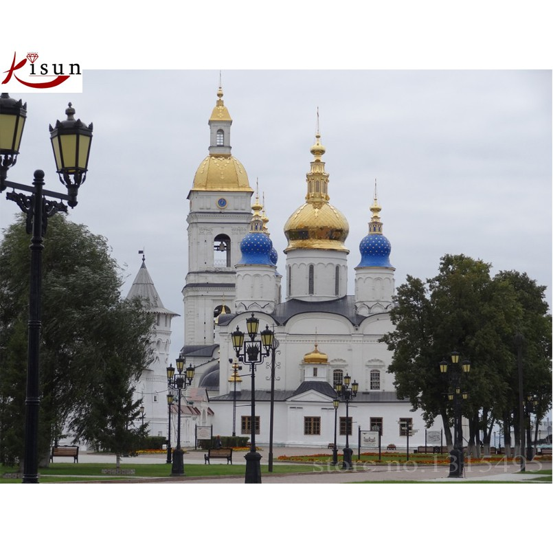 Diamond painting cross stitch diamond embroidery Moscow Kremlin picture pastes mosaic kits needlework for home decoration D152