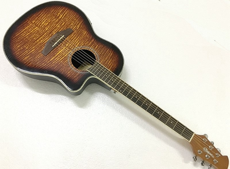 round back ovation modle electric acoustic guitar with free hardcase