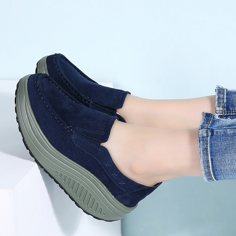 Chaussures Coffee Slip Blue 2122 Creepers Dames Suede Plat Cuir 2122 Femmes 2122 Femme Sur Printemps Mocassins Plate Appartements Brown Navy 2122 forme Chaussure Sneakers En Black H8E14