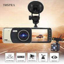 DVR 4 Pollici della Macchina Fotografica Auto Dual Lens Full HD 1080 P Dash Cam Video Recorder Vista Posteriore del Cruscotto Della Macchina Fotografica Registrator di Visione Notturna Dvr