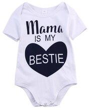 Newborn Kids Baby Infant Boy Girl Clothes Short Sleeve Cotton Bodysuit Jumpsuit Kids Baby Casual Summer
