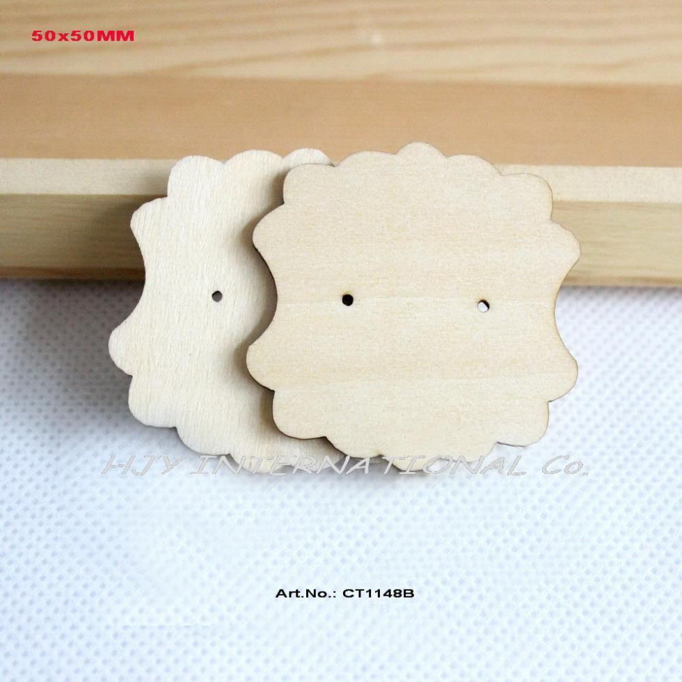 60pcslot 50mm Natural Wooden Earring Tags Cards Jewelry Label Tags  Display Jewelry