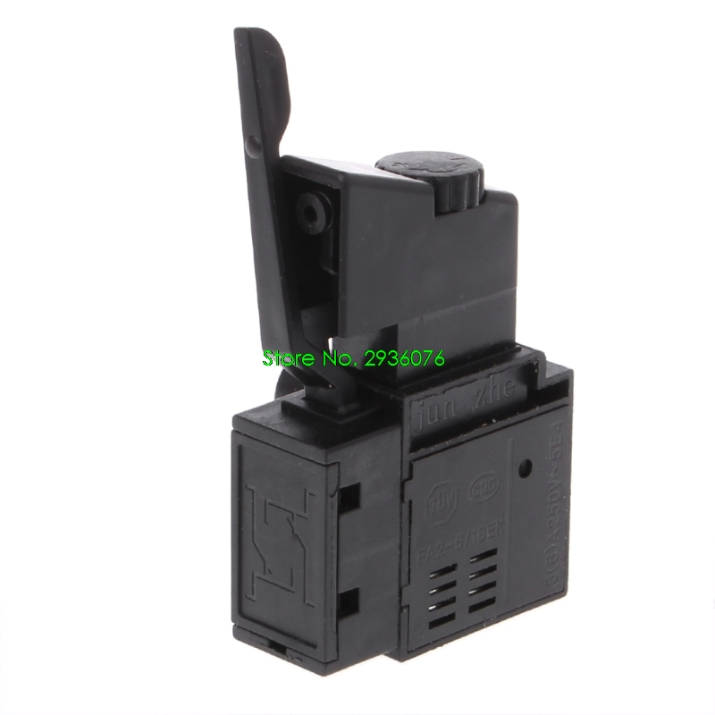 2018 New FA2-6/1BEK Lock on Power Tool Electric Drill Speed Control Trigger Button Switch Drop Shipping Support