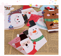 128pcs Set Merry Christmas Greeting Card Various Patterns Santa Elk Paper Card Party For Festival Gift