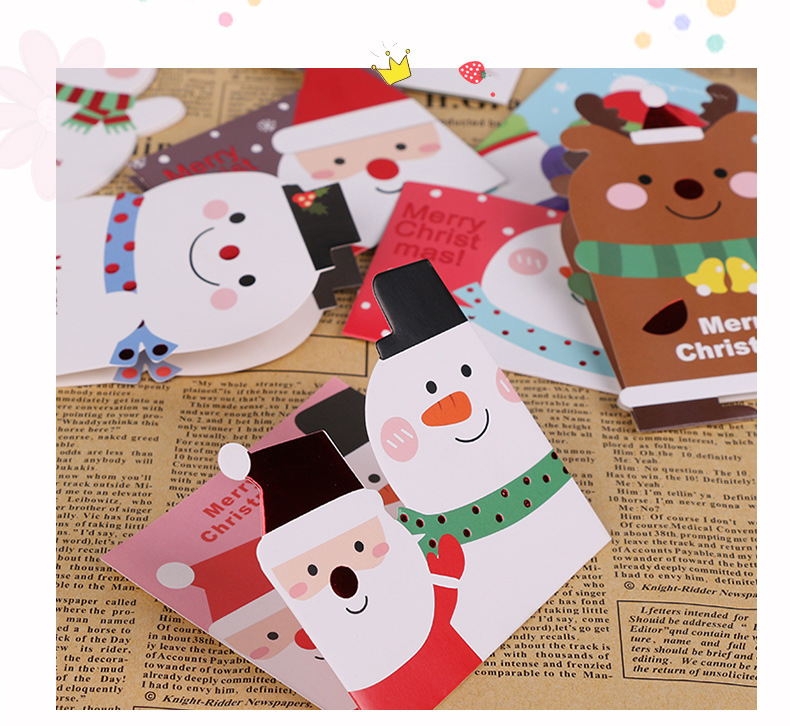 112pcs/set Merry Christmas greeting card various patterns Santa elk paper card party for festival gift Mini Leave Message card