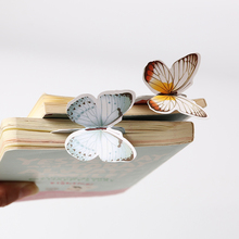 14PCS Bookmark Butterfly Style Teacher's Gift Book Marker Stationery Gift Realistic Cute Kawaii Cartoon 3d Bookmark(China)