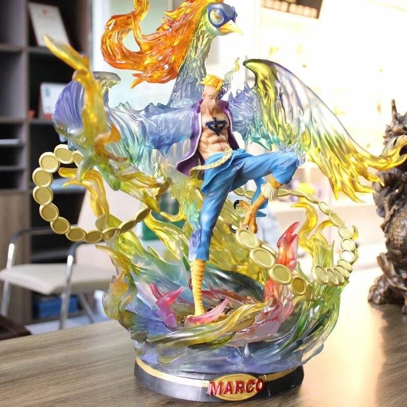 46 CM une pièce Phoenix perle noire Marco Figurine poupées jouets PVC Action Figurine Collection jouet H732