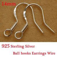 Yage 100Pcs Lot Jewelry Finding 925 Sterling Silver Earrings Hook Unisex Sterling Silver Jewelry Ear Hooks