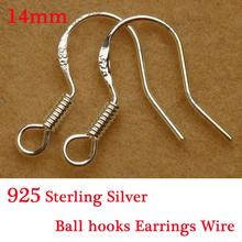 Yage 100Pcs/lot Jewelry Finding 925 Sterling Silver Earrings Hook Unisex Sterling Silver Jewelry Ear Hooks Earring Findings
