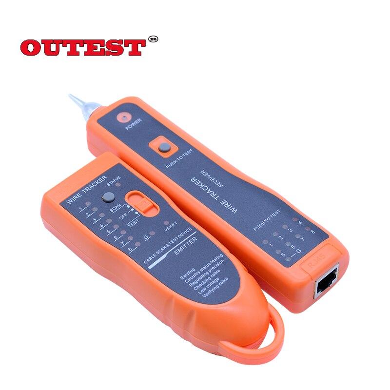 OUTEST fil tracker RJ45 RJ11 finder réseau lan câble téléphone électrique fil tracker traceur de toner xq-350