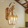 European Classical Luxury Bronze Copper Art Outdoor Waterproof  Wall Lamp for Bedroom aisle Living room Corridor Garden 1695