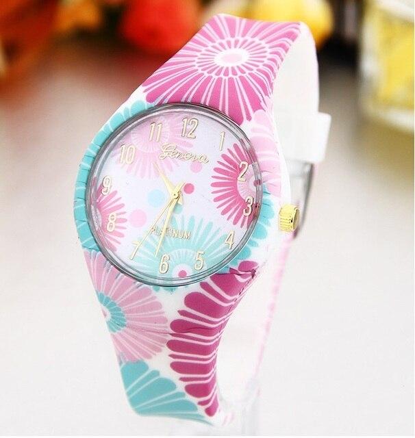 Zegarek damski GENEVA sportowy letni styl idealny na plażę różne wzory
