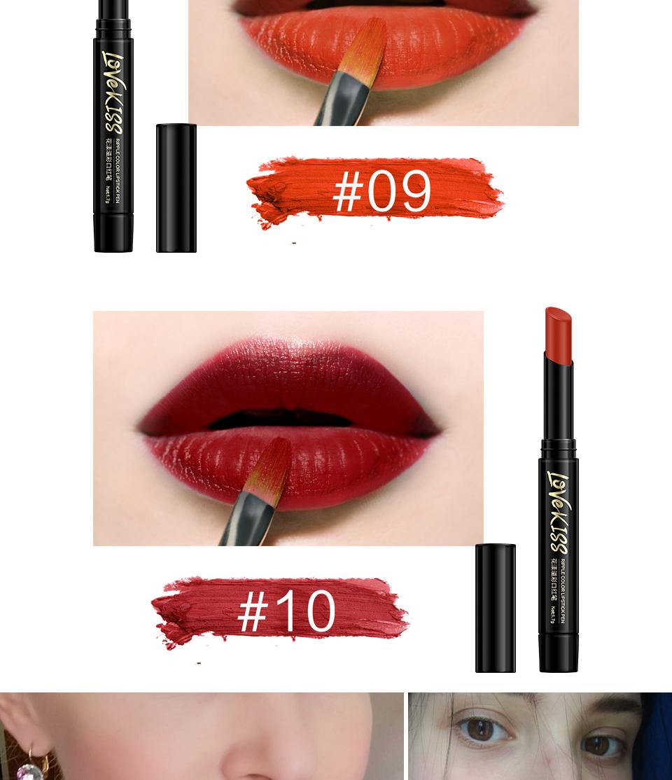 Nude Sexy Lipstick red Lipgloss Long lasting Pigment Matte Lipstick Women Fashion Makeup Cosmetic Valentine's GIFT private label 8