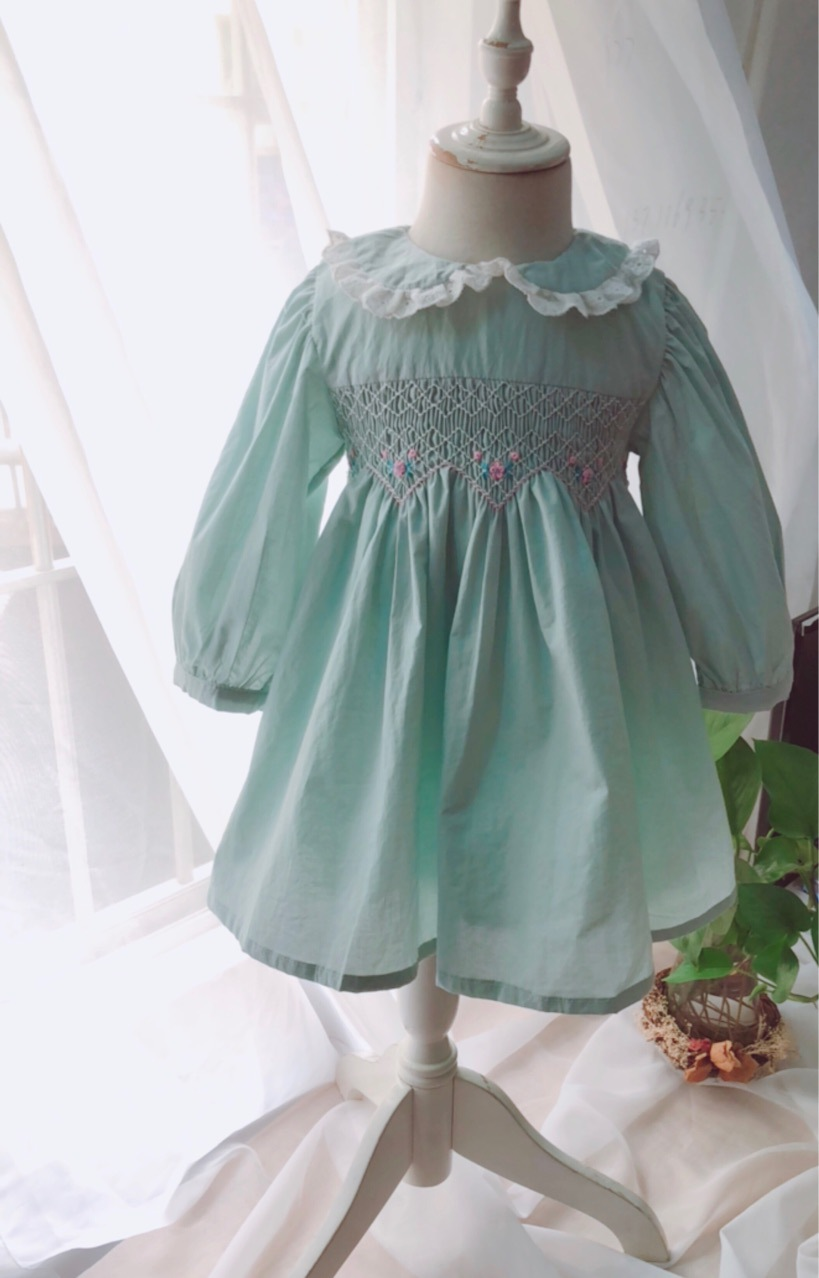 Kids Girls Princess Ruffles Embroidered Flowers Party Candy Color Bow Dress New Spring Autumn Children Dress