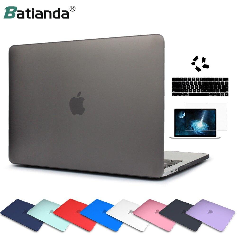 קריסטל מט פלסטיק קשיח Case כיסוי עבור MacBook Pro 2017 2018 Pro רשתית 13 15 inch A1706/A1707 מגע בר חדש אוויר 13 A1932