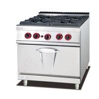 GH 987A коммерческих Кухня оборудование 4 конфорками газ Пособия по кулинарии диапазон газовая духовка Многофункциональный Плита