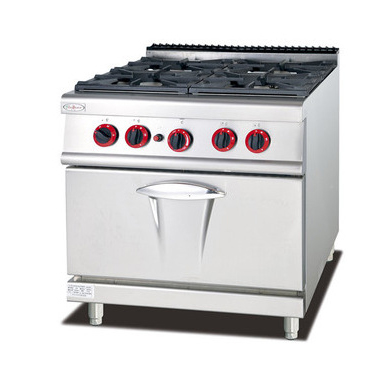 GH-987A Commercial Kitchen Equipment 4 Burners Gas Cooking Range Gas Oven Multifunctional Cooker