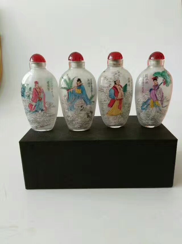 Chinese Peking Inside Painting Immortal  Glass Snuff Bottle