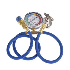 Image 2 - Car Air Conditioning Repair Tool R134a Air Conditioner Fluoride Tube Quick Release Refrigerant Connector Cold Pressure Gauge