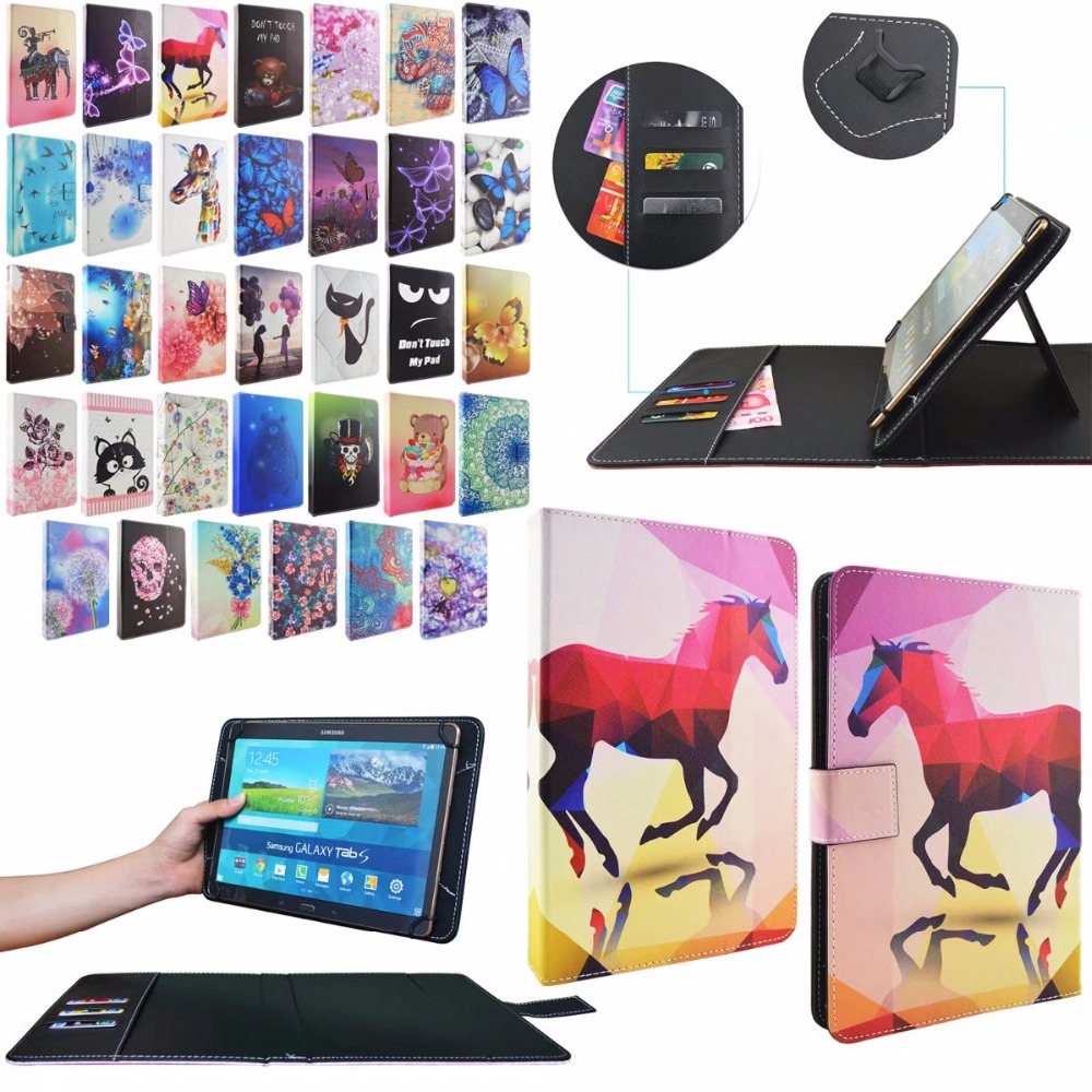 For 10 inch Universal PU Folio Wallet Leather Case Tablet Protective Stand Cover tablet case 10.1 universal