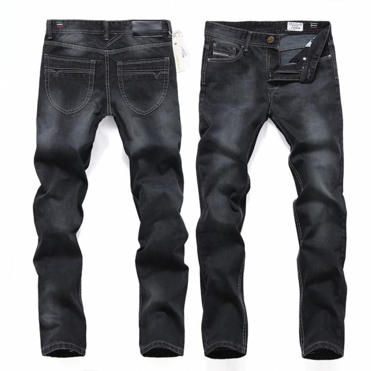 Plus Size Black Brand Jeans Men Fashion Casual Straight Legged Cotton Slim Men Jeans Lightweight Designed Trouses Denim Pants